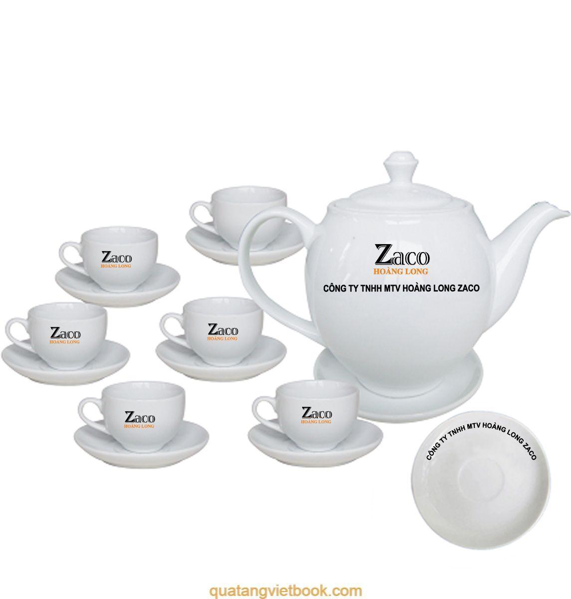 In logo Zaco lên bộ ấm chén
