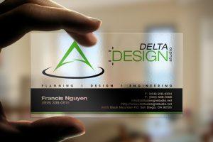 in card visit nhựa delta