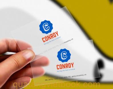 in card visit nhựa trong conroy