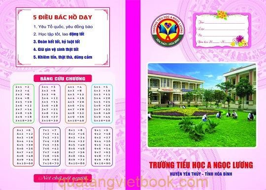 thiết kế bìa in vở học sinh theo yêu cầu