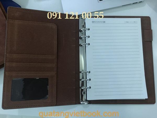 Sổ tay bìa da bán sẵn - mẫu 1