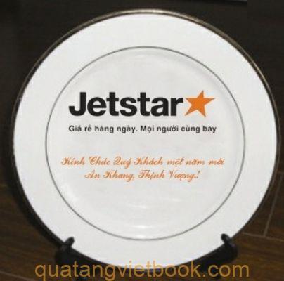 in logo lên gốm sứ Jetstar