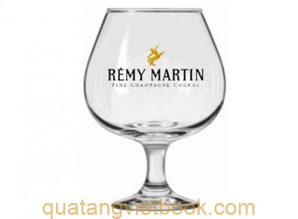 in logo lên ly thủy tinh Remy