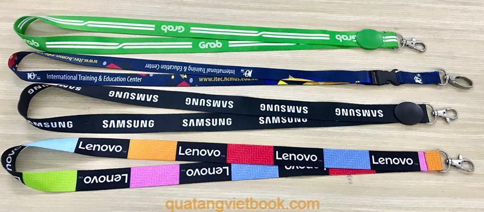 in dây đeo thẻ nhân viên cao cấp tại Vietbook