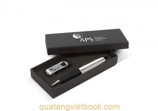 Set quà tặng doanh nghiệp: usb và bút