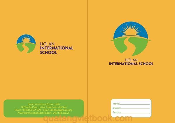 in vở học sinh trường quốc tế Hội An
