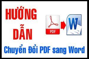 cách chuyển file pdf sang word