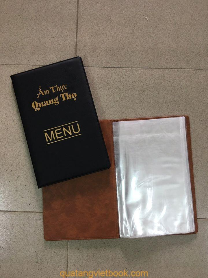 Bìa menu da simili in log Quang Thọ