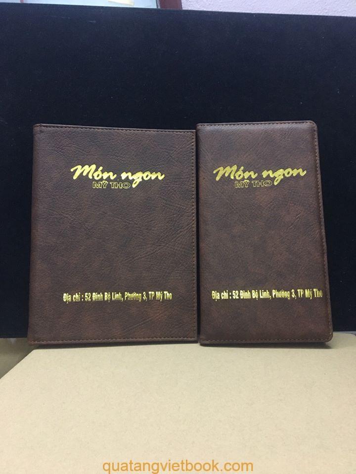 Sản xuất menu bìa da tpHCM theo yêu cầu - M1