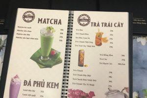 Quyển menu nhà hàng KEm