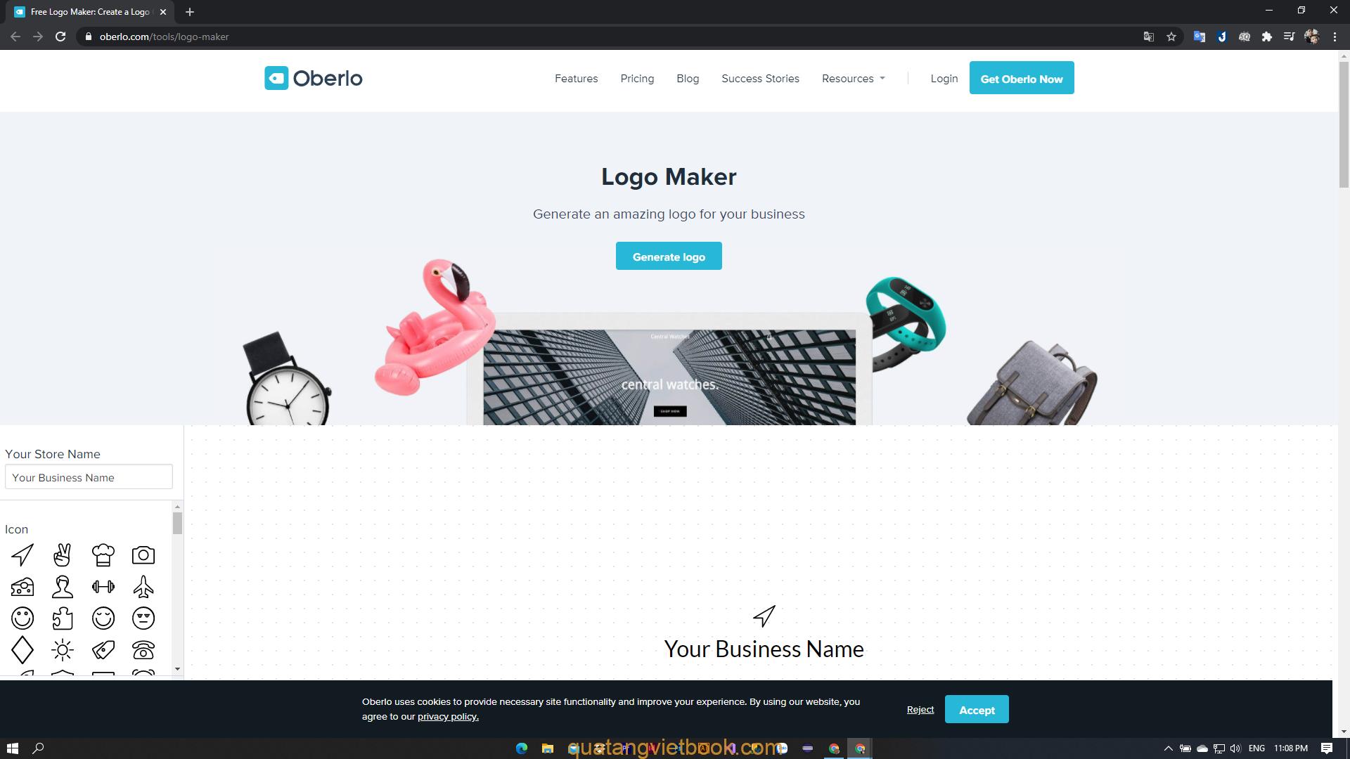 tạo logo online bằng Gennerate Logo