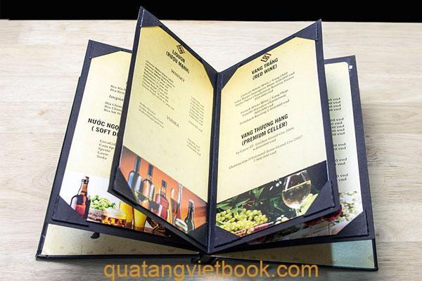 in menu nhà hàng cao cấp