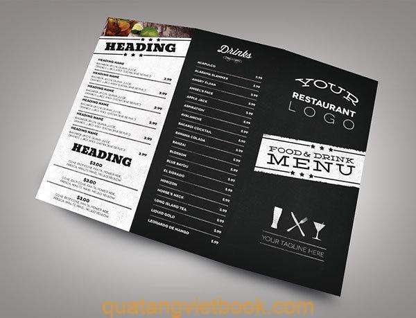 in menu chất lượng cao