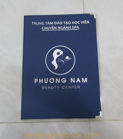 Menu bìa da Spa Phương Nam