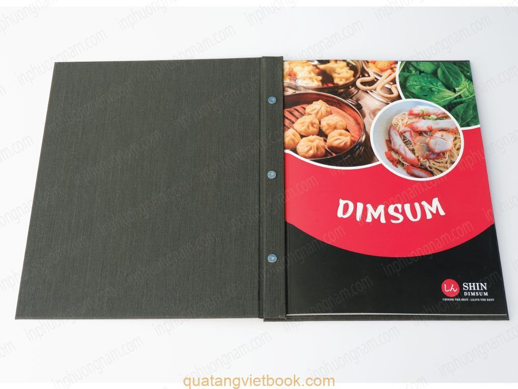 in menu bìa cứng