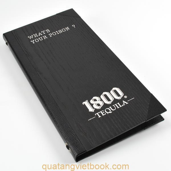 menu bìa gỗ dạng cuốn