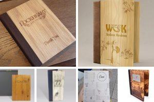 menu bìa gỗ