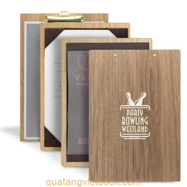 đặc điểm menu bìa gỗ
