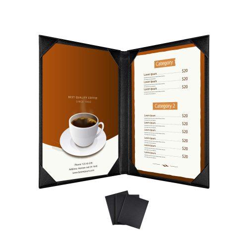 Bìa menu cafe 1 mặt