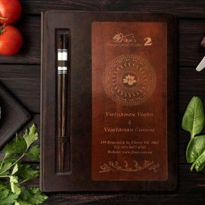 bìa menu da bọc gỗ