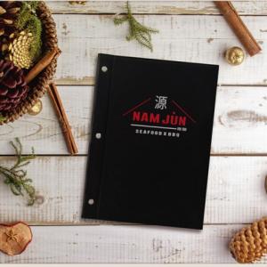 bìa menu da nhà hàng nam jun